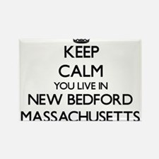 Keep calm you live in New Bedford Massachu Magnets