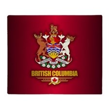 British Columbia Coa Throw Blanket
