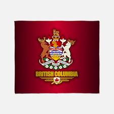 British Columbia Coa Throw Blanket