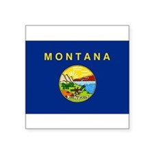 "Unique Montana Square Sticker 3"" x 3"""