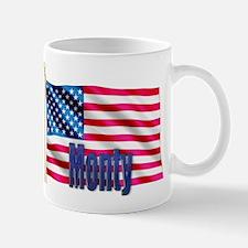 Monty American Flag Gift Mug