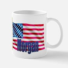 Morgan Personalized American Flag Gift Mug