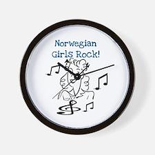 Norwegian Girls Rock Wall Clock