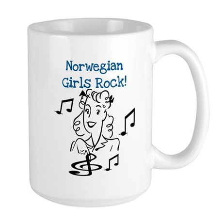 Norwegian Girls Rock Large Mug