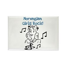 Norwegian Girls Rock Rectangle Magnet