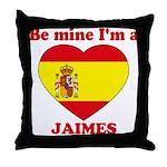 Jaimes, Valentine's Day Throw Pillow