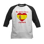 Jaimes, Valentine's Day Kids Baseball Jersey