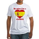 Jaimes, Valentine's Day Fitted T-Shirt