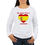 Jaimes, Valentine's Day Women's Long Sleeve T-Shir