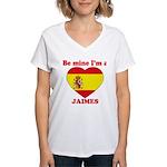 Jaimes, Valentine's Day Women's V-Neck T-Shirt