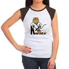 Karate Tiger Kid Women's Cap Sleeve T-Shirt