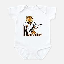 Karate Tiger Kid Infant Bodysuit
