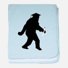 Graduation Sasquatch baby blanket