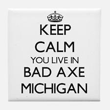 Keep calm you live in Bad Axe Michiga Tile Coaster