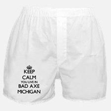 Keep calm you live in Bad Axe Michiga Boxer Shorts