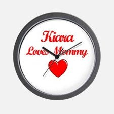 Kiara Loves Mommy Wall Clock