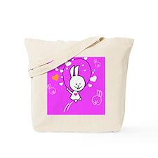 Cute Bunny Jumping Rope Tote Bag