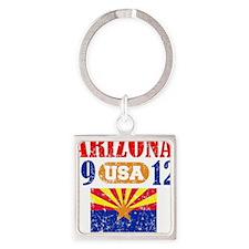 """ARIZONA / USA  1912 STATEHOOD """"PER Square Keychain"""