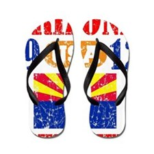 "ARIZONA / USA  1912 STATEHOOD ""PERFECT  Flip Flops"
