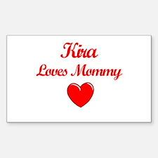Kira Loves Mommy Rectangle Decal
