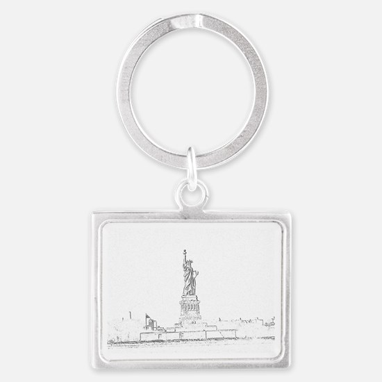 Statue of Liberty  Landscape Keychain