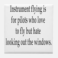 Instrument Flying Tile Coaster