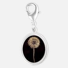Dreamy Dandelion Silver Oval Charm