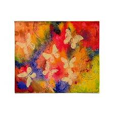 Butterfly Vestige Throw Blanket