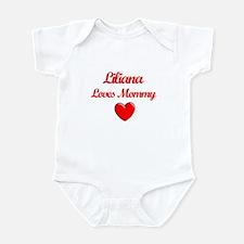 Liliana Loves Mommy Infant Bodysuit