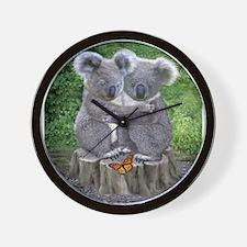 BABY KOALA HUGGIES Wall Clock