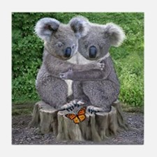 BABY KOALA HUGGIES Tile Coaster