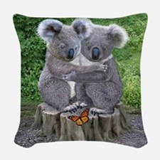 BABY KOALA HUGGIES Woven Throw Pillow