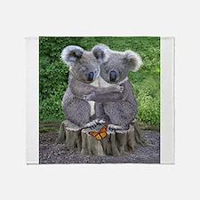 BABY KOALA HUGGIES Throw Blanket