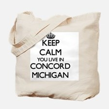 Keep calm you live in Concord Michigan Tote Bag