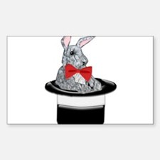 MAgic Bunny in a Top Hat Decal