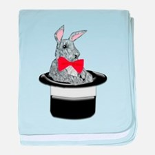 MAgic Bunny in a Top Hat baby blanket