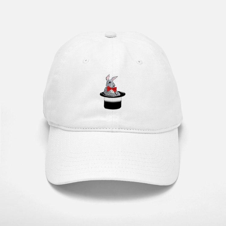 MAgic Bunny in a Top Hat Baseball Baseball Cap