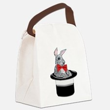 MAgic Bunny in a Top Hat Canvas Lunch Bag