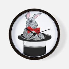 MAgic Bunny in a Top Hat Wall Clock