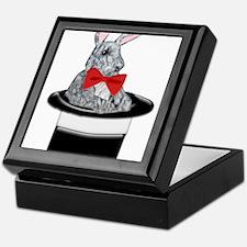 MAgic Bunny in a Top Hat Keepsake Box