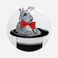 MAgic Bunny in a Top Hat Ornament (Round)