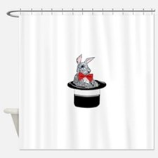 MAgic Bunny in a Top Hat Shower Curtain