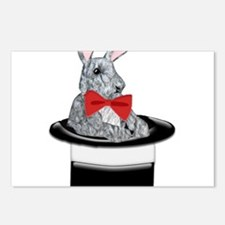 MAgic Bunny in a Top Hat Postcards (Package of 8)
