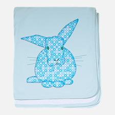 Blue Calico Baby Bunny baby blanket
