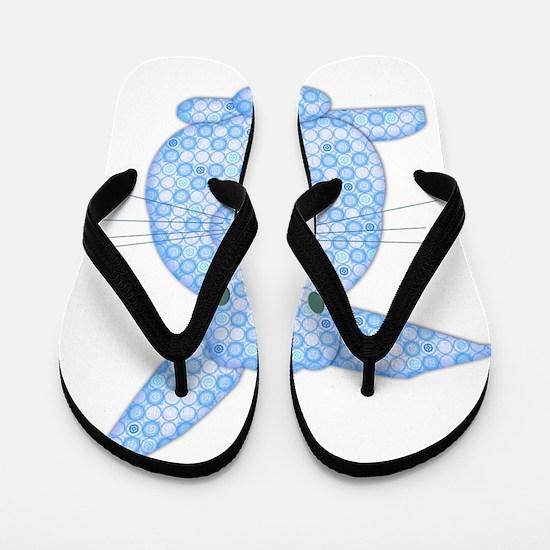 Blue Calico Baby Bunny Flip Flops