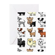 Cute Toy Dog Breed Pattern Greeting Card