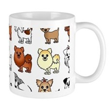Cute Toy Dog Breed Pattern Mug