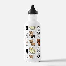Cute Toy Dog Breed Pat Water Bottle