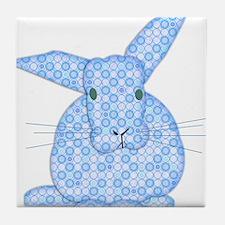 Blue Calico Baby Bunny Tile Coaster