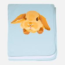 Fuzzy Lop Eared Bunny baby blanket
